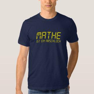 Matemática é Arschloch Camisetas