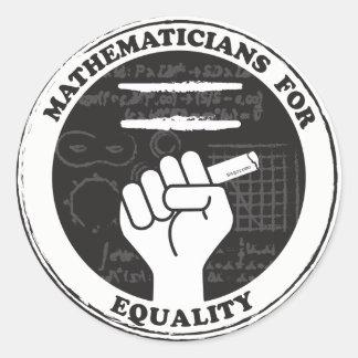 Matemáticos para etiquetas da igualdade