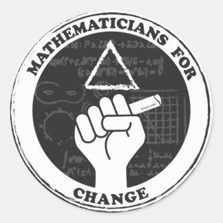 Matemáticos para etiquetas da mudança