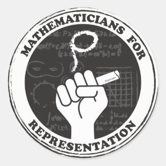 Matemáticos para etiquetas da representação