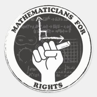 Matemáticos para etiquetas dos direitos