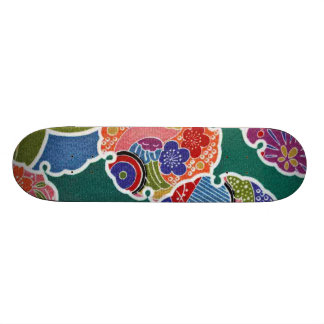 Matéria têxtil japonesa do QUIMONO, teste padrão d Shape De Skate 18,4cm
