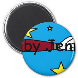 Material do logotipo ímã redondo 5.08cm