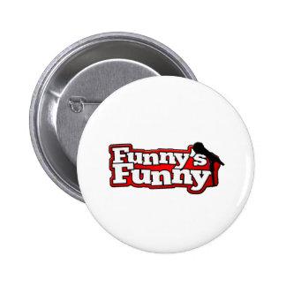 Material engraçado engraçado do logotipo pins