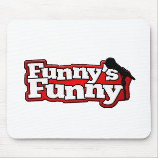 Material engraçado engraçado do logotipo mouse pad