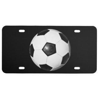 Matrícula do tema da bola de futebol