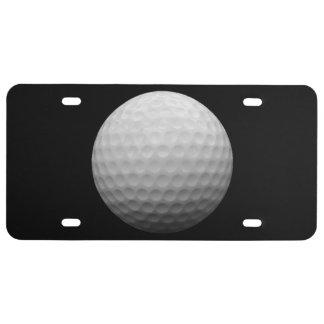Matrícula do tema da bola de golfe