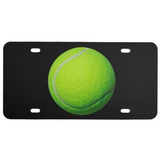 Matrícula do tema da bola de tênis