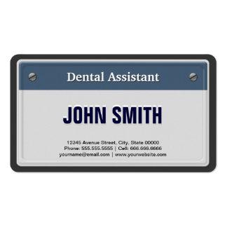 Matrícula legal do carro do assistente dental cartão de visita