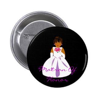 """""""Matrona botão da honra de II"""" - customizável Bóton Redondo 5.08cm"""