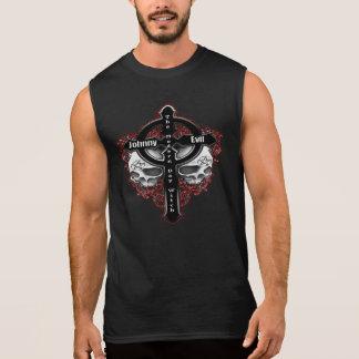 Mau de Johnny - logotipo moderno da cruz da bruxa Camisas Sem Mangas