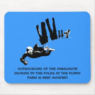 Mau gosto mas skydiving engraçado mouse pad