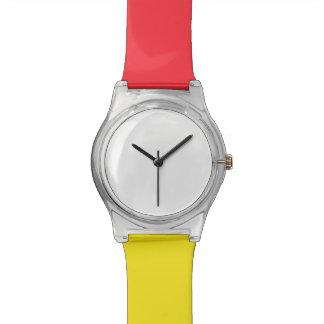 May28th relógio vermelho/amarelo