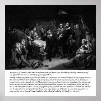 Mayflower - assinatura do estojo compacto pôsteres