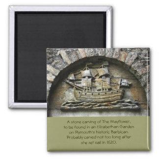 Mayflower - ímã de cinzeladura de pedra da acção d imas