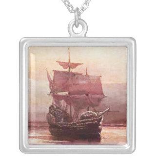 Mayflower nas colares do porto de Hudson
