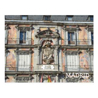 Mayor da plaza, cartão de Madrid