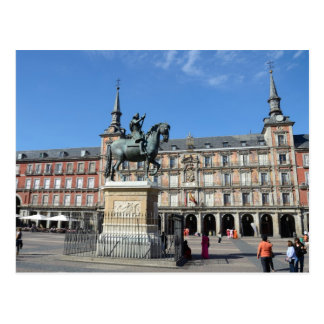 Mayor da plaza, cartão de Madrid Cartão Postal