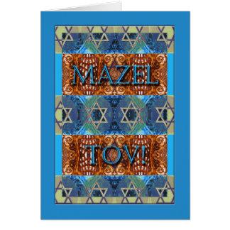 Mazel Tov! Parabéns no bar Mitzvah, ornamentado Cartão Comemorativo