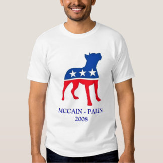 MCCAIN patriótico de Pitbull - PALIN 2008 T-shirts