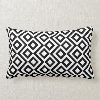 Meandro preto e branco travesseiro