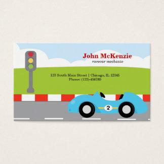 Mecânico de Racecar Cartão De Visita
