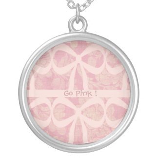 Medalhão cor-de-rosa da fita