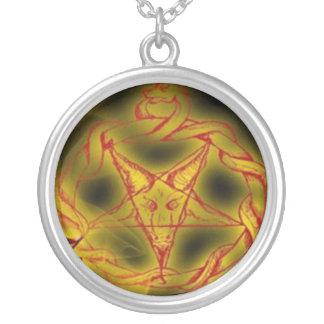 Medalhão de Ouroboros Baphomet