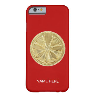 Medalhão do ouro do cornetim do sapador-bombeiro 4 capa iPhone 6 barely there