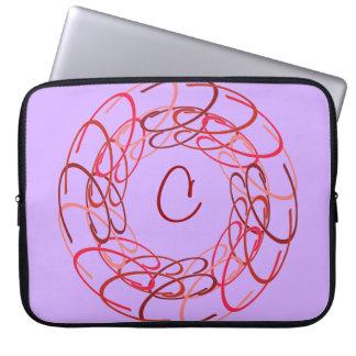 Medalhão do vermelho do centímetro cúbico capas de computadores notebooks