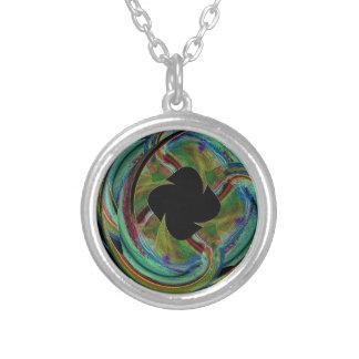 Medalhão místico colar com pendente redondo