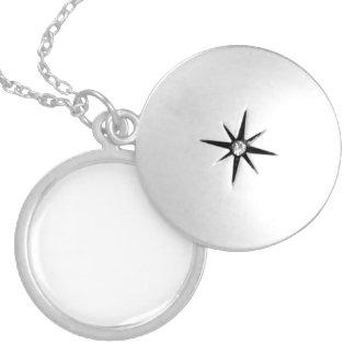 Medalhão Personalizado Chapeado a Prata Bijuterias