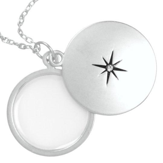 Médio Prata Esterlina Medalhão Redondo