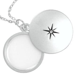 Medalhão Personalizado de Prata de Lei Locket
