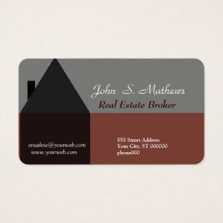Mediador imobiliário profissional da arquitetura cartão de visitas