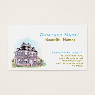 Mediador imobiliário, remodelação e arquitetura cartão de visitas