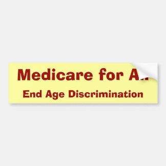 Medicare para tudo, discriminação de idade do fim adesivo para carro