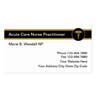 Médico agudo da enfermeira do cuidado cartão de visita