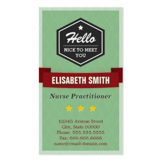 Médico da enfermeira - na moda retro do vintage cartão de visita