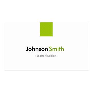 Médico dos esportes - verde simples da hortelã cartão de visita