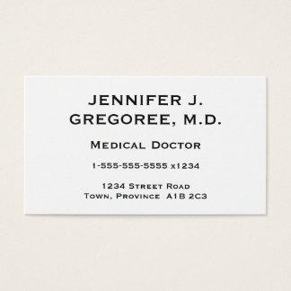 Médico elegante e mínimo cartão de visita