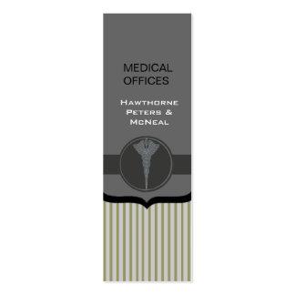 Médico moderno de gama alta descascado cartão de visita skinny
