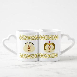 Medique & nutra o grupo da caneca de café do casal