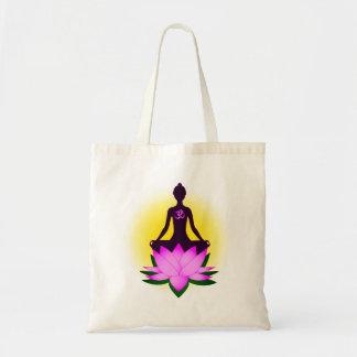 Meditação da ioga bolsa tote