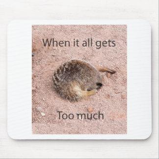 Meerkat engraçado mouse pad