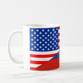 meia bandeira EUA de Estados Unidos América Caneca De Café