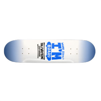 Meia casa da maneira eu sou o CONSELHO Shape De Skate 18,4cm