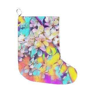Meia De Natal Grande ArtStudio floral 31