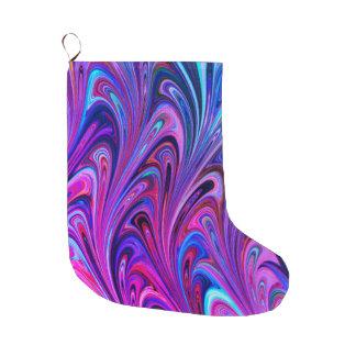 Meia De Natal Grande Bonito colorido do abstrato da arte da meia do
