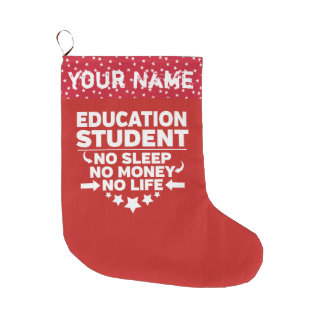 Meia De Natal Grande Estudante universitário engraçado da educação